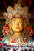 Sculpture of Maitreya buddha at Thiksey Monastery — Stock Photo