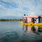 Dal lake at Srinagar, Kashmir, India — Stock Photo #73933213