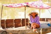 Woman in the boat at Hoi An, Vietnam — Stock Photo