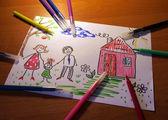 Bambini s disegno — Foto Stock
