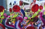 Colorful chinese dragon toy — Stock Photo