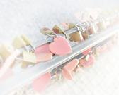 Heart plates love symbol — Stock Photo