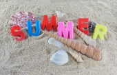 Summer colorful text — Stock Photo