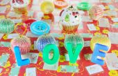 Decorative letters forming word LOVE — Foto Stock