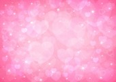 Pink heart bokeh — Stock Photo