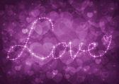 Pink heart bokeh — Photo