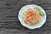 Thai papaya salad — Stockfoto