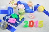 New year 2015 decoration — Stock Photo
