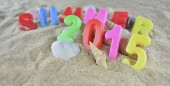 Summer 2015 colorful text — Stock Photo
