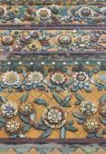 平铺在曼谷大皇宫泰国宝塔艺术 — 图库照片