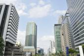 Cityscape of the distric business Bangkok — Stock Photo