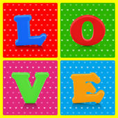 Love word on colorful background — Stock Photo
