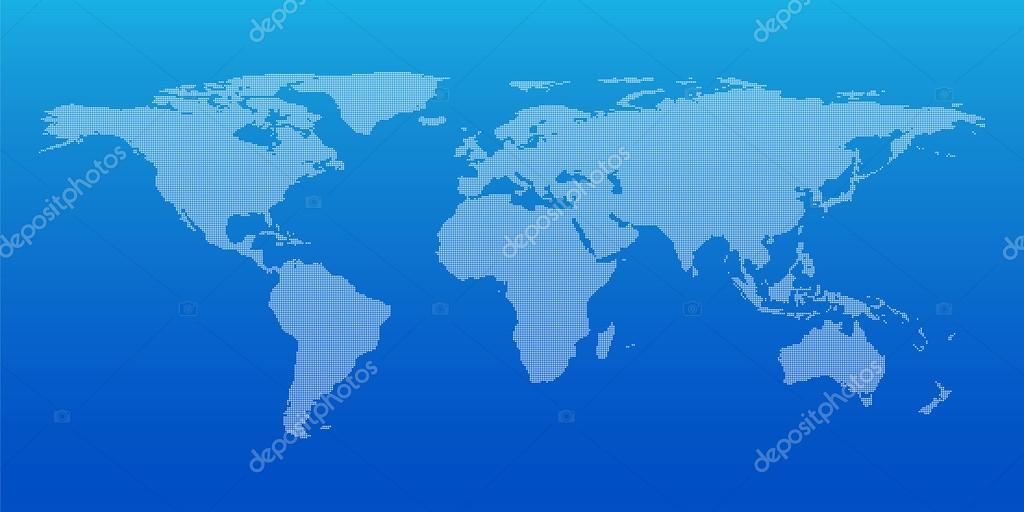 全球商业背景,矢量图的虚线的世界地图– 图库插图