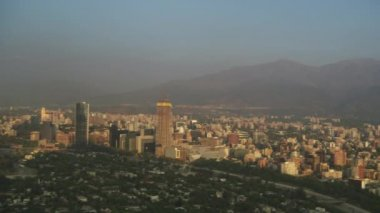 Panoramic Of Santiago Chile — Wideo stockowe