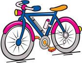 Funny cartoon of multicolor bike — Stock Vector