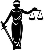Symbol statue of justice — Stock Vector