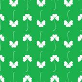 Seamless pattern with clover leafs. — Stock Vector