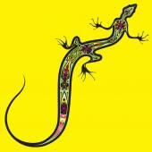 Lizard in acid colors — Stock Vector