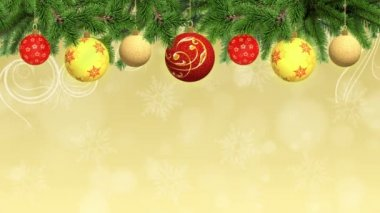 Animated Christmas and New Year Background — Stockvideo