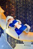 композиция рождество с санта — Стоковое фото