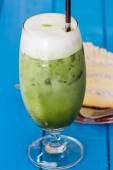 Ледяной зеленый чай — Стоковое фото