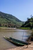 Khong river with bluesky ,weingkan in Chiangrai ,Thailand — Stock Photo