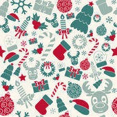 Seamless Christmas background. Retro colors. Vector — ストックベクタ