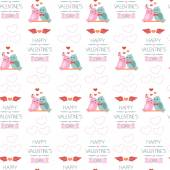 Seamless background for Valentine's day. Wrapping paper. Color. vector — Stock Vector