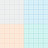 A set of graph paper in four colors. Plotting paper. Vector — Stock Vector
