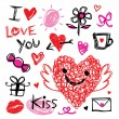 Sweetheart I Love You Valentine Heart Cute Cartoon Vector — Stock Vector #71056571