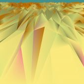 Embossed gold background in vector. — Stock Vector