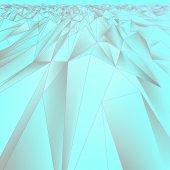 Embossed geometric pattern in light blue tones. Vector design — Stockvektor
