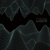 Abstract wave background. Vector design. — Stock Vector