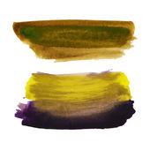 Watercolor strokes and texture. Vector design. — Stock Vector
