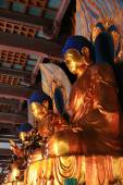 Buddha Statues In A Termple — Стоковое фото
