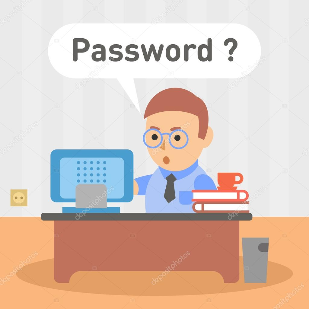 Password for Email Clip Art