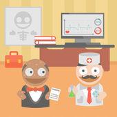 Medicine doctor  disease treatment — Stock Vector