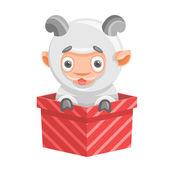 Sheep holiday new year — Stock Vector