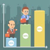 Businessman infographic schedule — Stock Vector