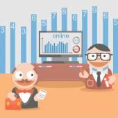 Businessman client  schedule — Stock Vector