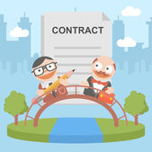 Businessman contract client — Stock Vector