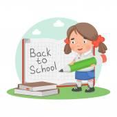 Cuaderno de educación la escuela colegiala — Vector de stock