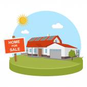 Home for sold solar energy — Stock Vector