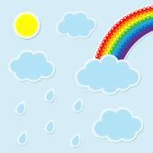 Weather scrapbook elements — Stock Vector