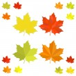 Set of vector colorful maple leaves — Stock Vector #57530549