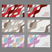 Set 2 of 3 horizontal business cards with 2 sides. EPS8 vector. — Vecteur