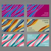 Set 4 of 3 horizontal business cards with 2 sides. — Vecteur