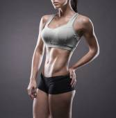 Athletic young woman doing a fitness workout — Stock Photo