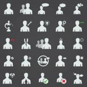 Set of twenty five modern isolated flat icons vector collection of business icons, management and human resources. — Stock Vector