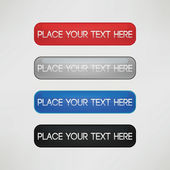 Four color set of simple modern banners template vector design. — Stok Vektör